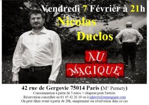 Nicolas Duclos - Magique - 7 02 2014